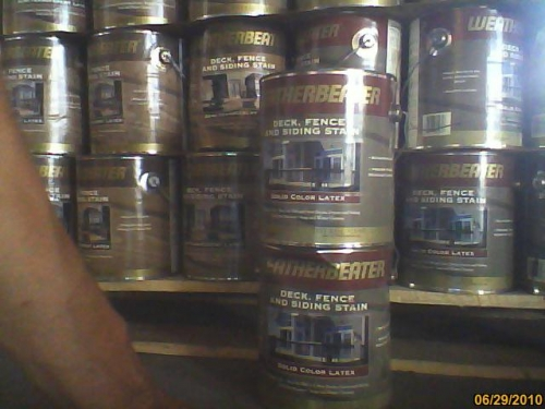 We Have Thousands Of Gallons Of Exterior Stain And Paint In Chicago Il