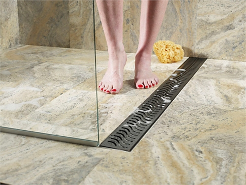 QuARTz By Aco Linear Shower Drain Metal Covers In