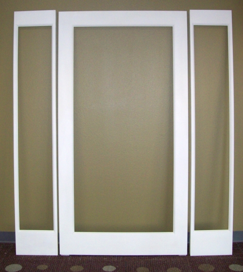 Open For Glass Paint Grade Alder Door With Sidelites In Oroville CA Digger