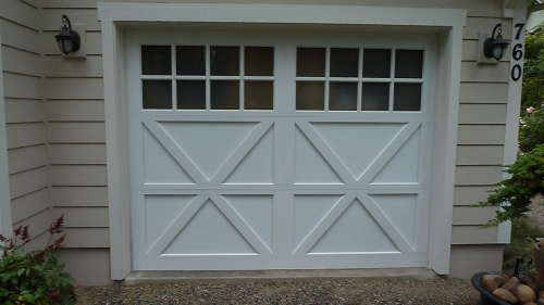 Infinity carriage style garage doors in hoodsport wa for Carriage style garage doors for sale