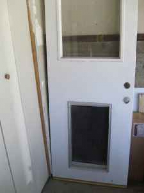 Exterior Door Fixed Glass Dog Door In Los Angeles Ca 90066