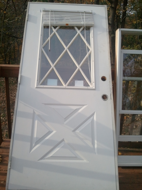 Stanley steel exterior door in vernon nj for Steel front doors for sale
