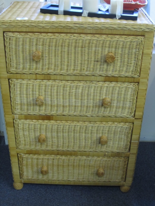 Natural wicker chest of drawers in johns island sc