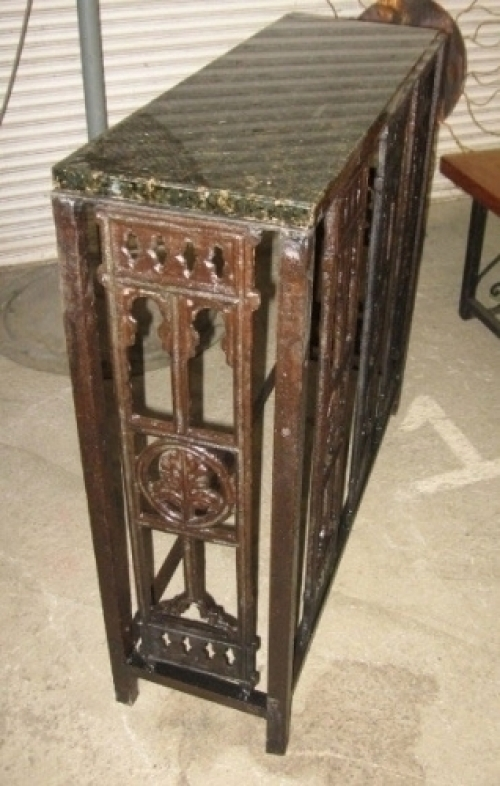 Custom antique cast iron console table 40 x 12 x 36 in for Table 52 roanoke va
