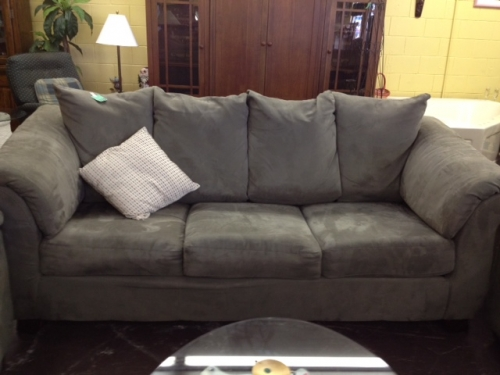 large grey suede sofa in kissimmee fl