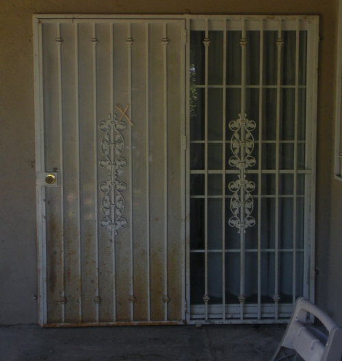 Security door for sliding door in carson ca for Sliding security doors